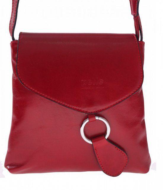 Listonoszka Skorzana Vera Pelle Czerwona Kate Spade Kate Spade Crossbody Saddle Bags