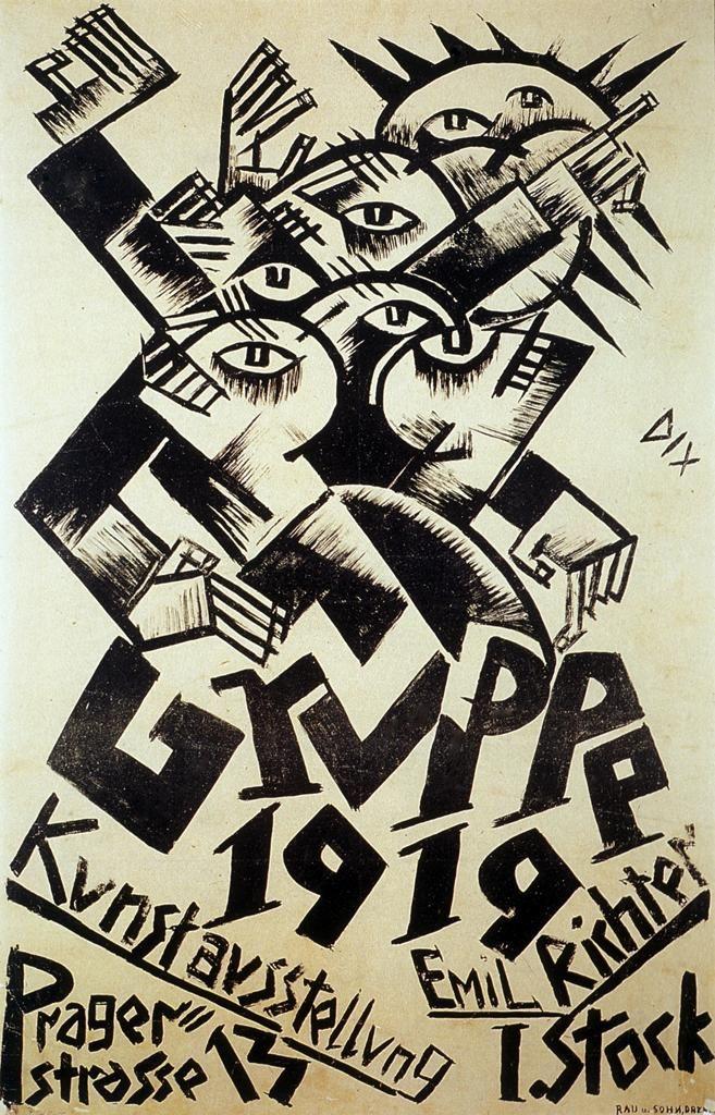 Gerahmter Pressure-Weimar BAUHAUS GERMAN ART EXHIBITION POSTER C