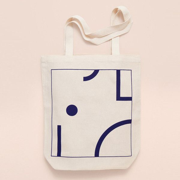 Depeapa tote bag blue shapes | Hello Frankie Store | Product ...