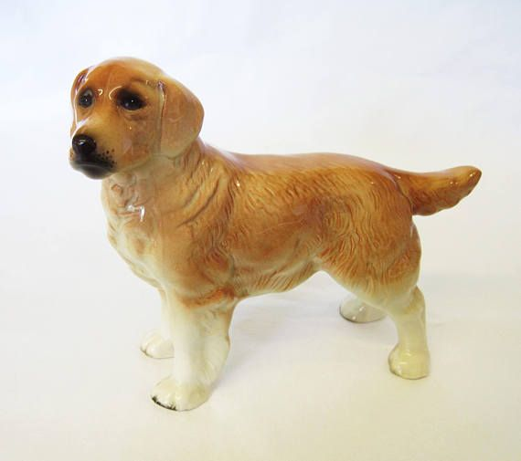 This Beautiful Golden Retriever Figurine Was Made By Coopercraft