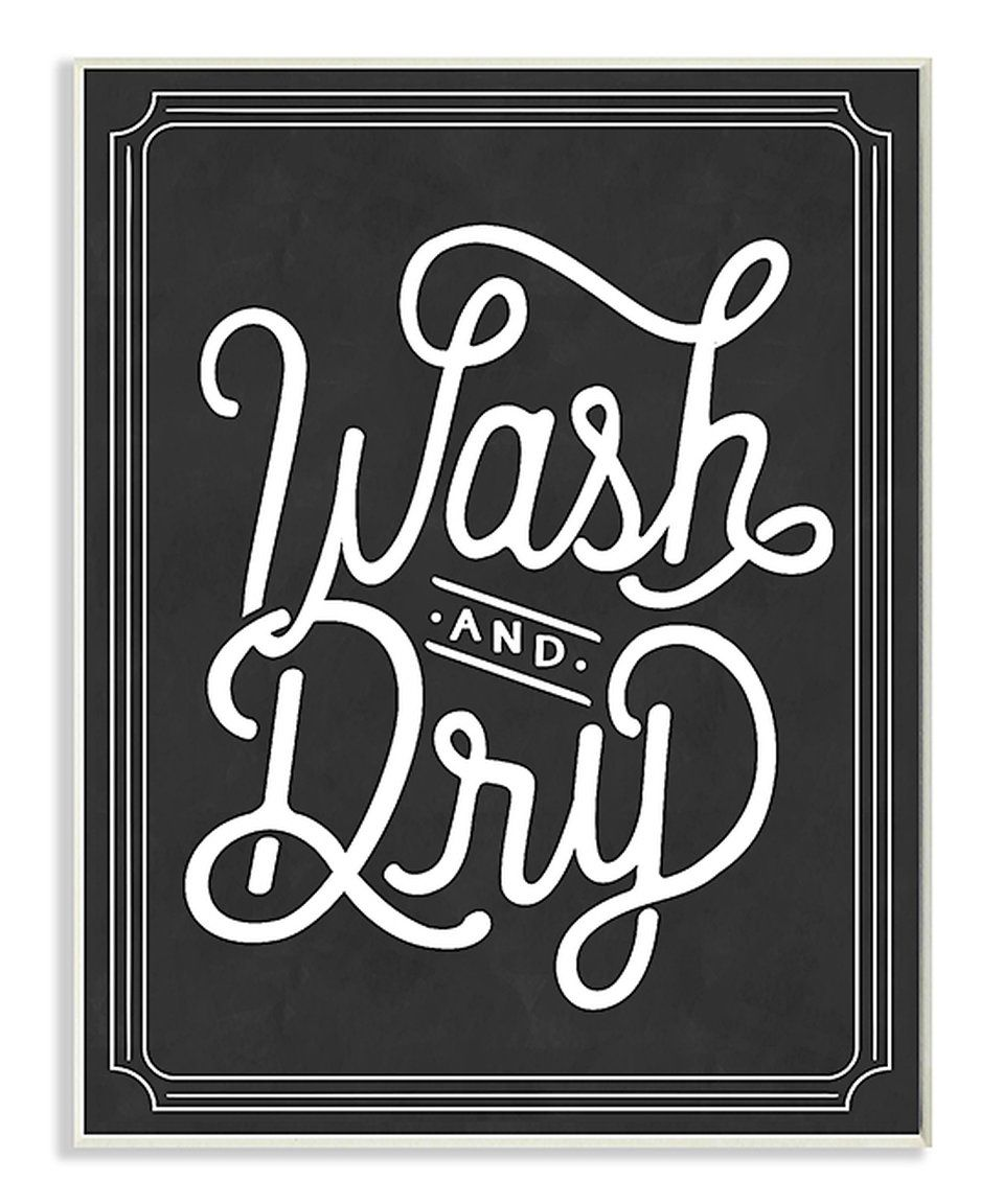 Laundry Room Wall Plaques Take A Look At This 'wash & Dry' Wall Art Today  New Home Art