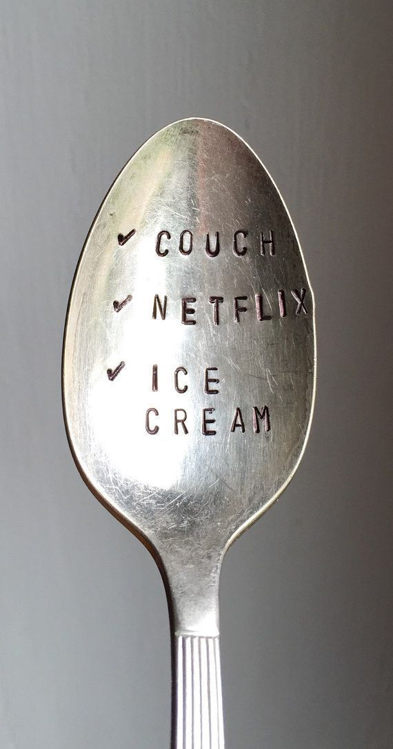 Stamped ice cream spoon my ice cream spoon Personalized Gift gift under 20 funny gift i love ice cream