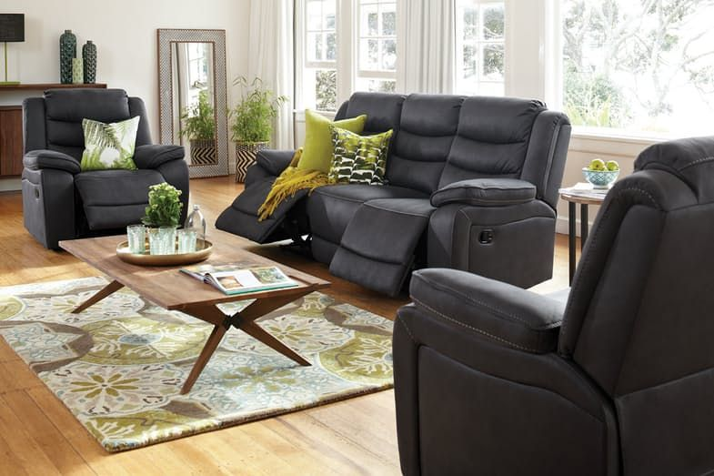 Tyler 3 Piece Fabric Recliner Lounge Suite Harvey Norman New Zealand Lounge Lounge Suites Lounge Couch