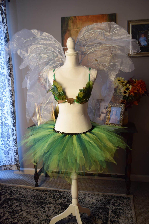 green Foliage adult fairy