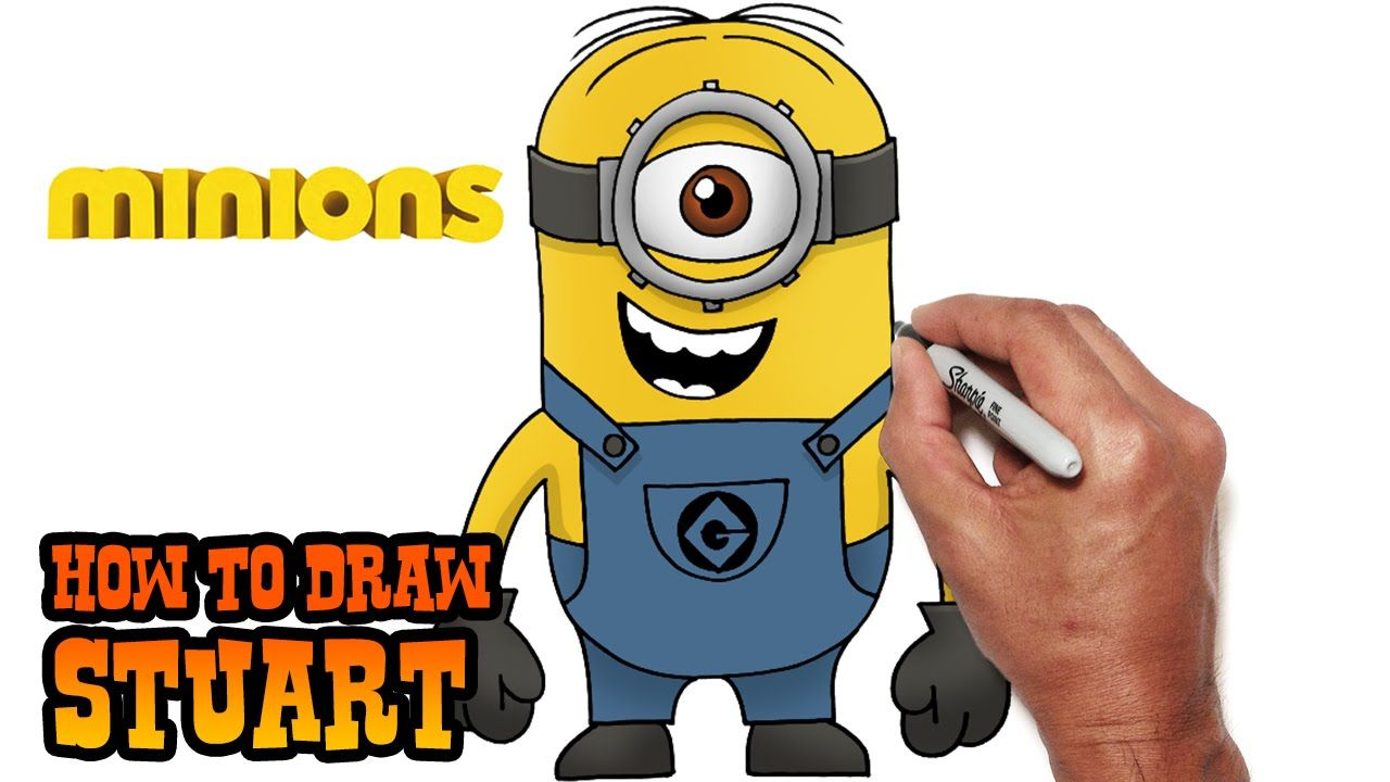 How To Draw Minion Stuart Step By Step Leer Tekenen Tekenen Film