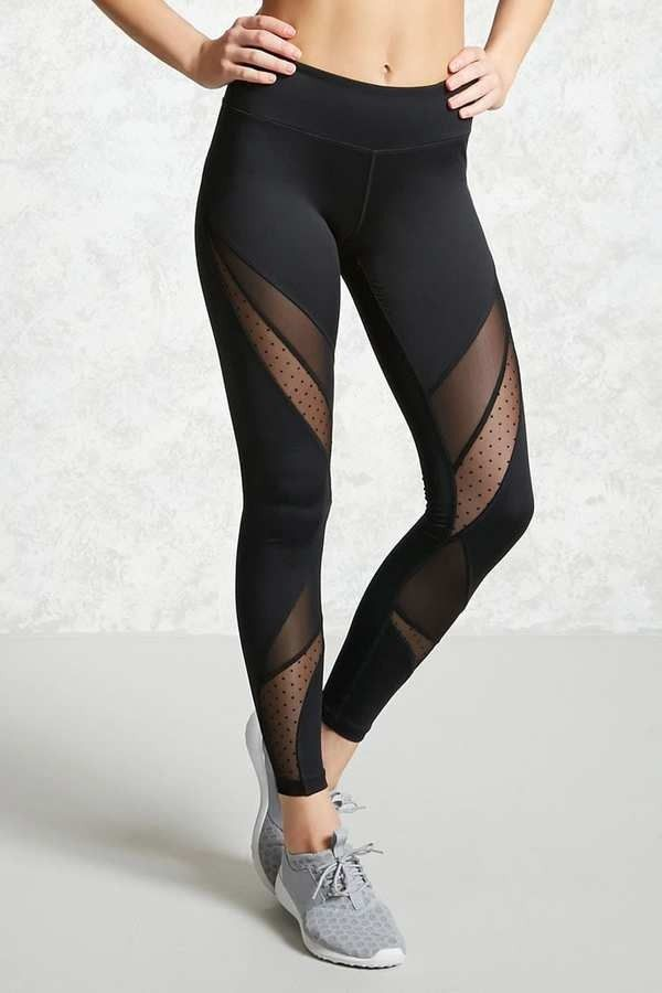 9d1fd96bdb864 Active Swiss-Dot Leggings by Forever 21 on ShopStyle. | Work It Out ...