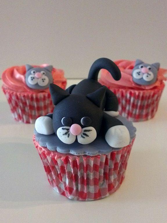 Gatito cupcake