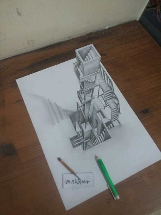 3d Pencil Drawing Ideas