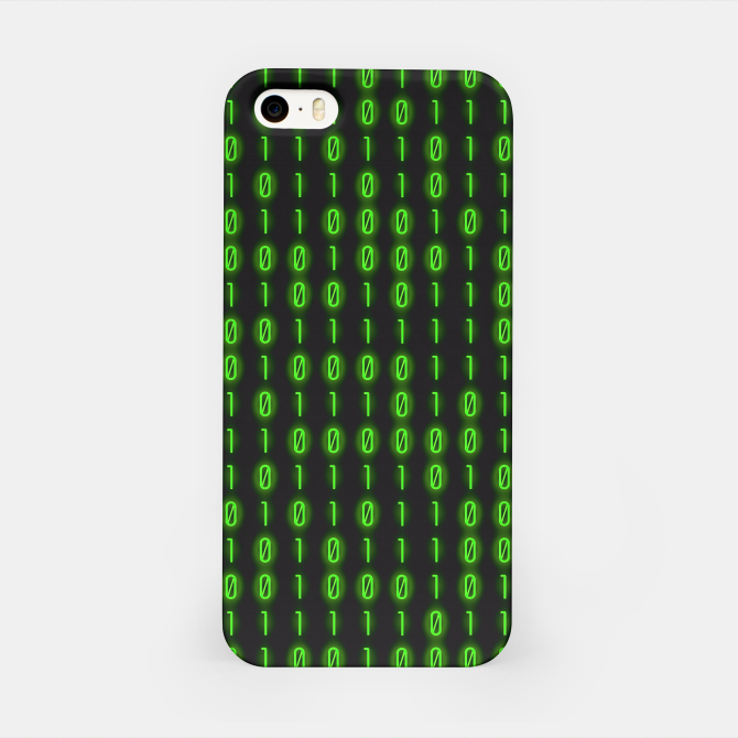 Binary Code Pattern Carcasa por Iphone