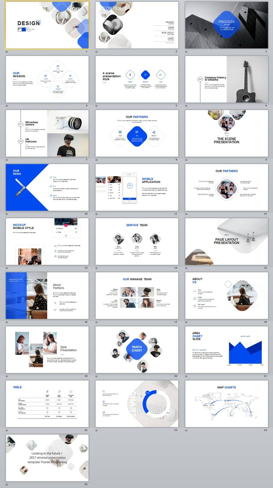 Company Introduction Timeline Powerpoint Template  Web Site