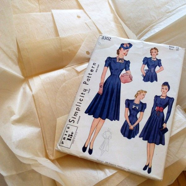 vintage simplicity sewing pattern 3302