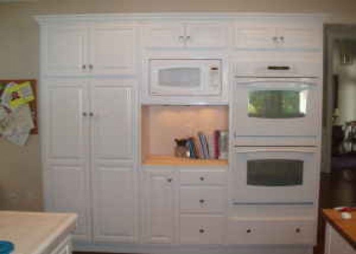 narrow cabinets at one end of wall | Selling furniture ...