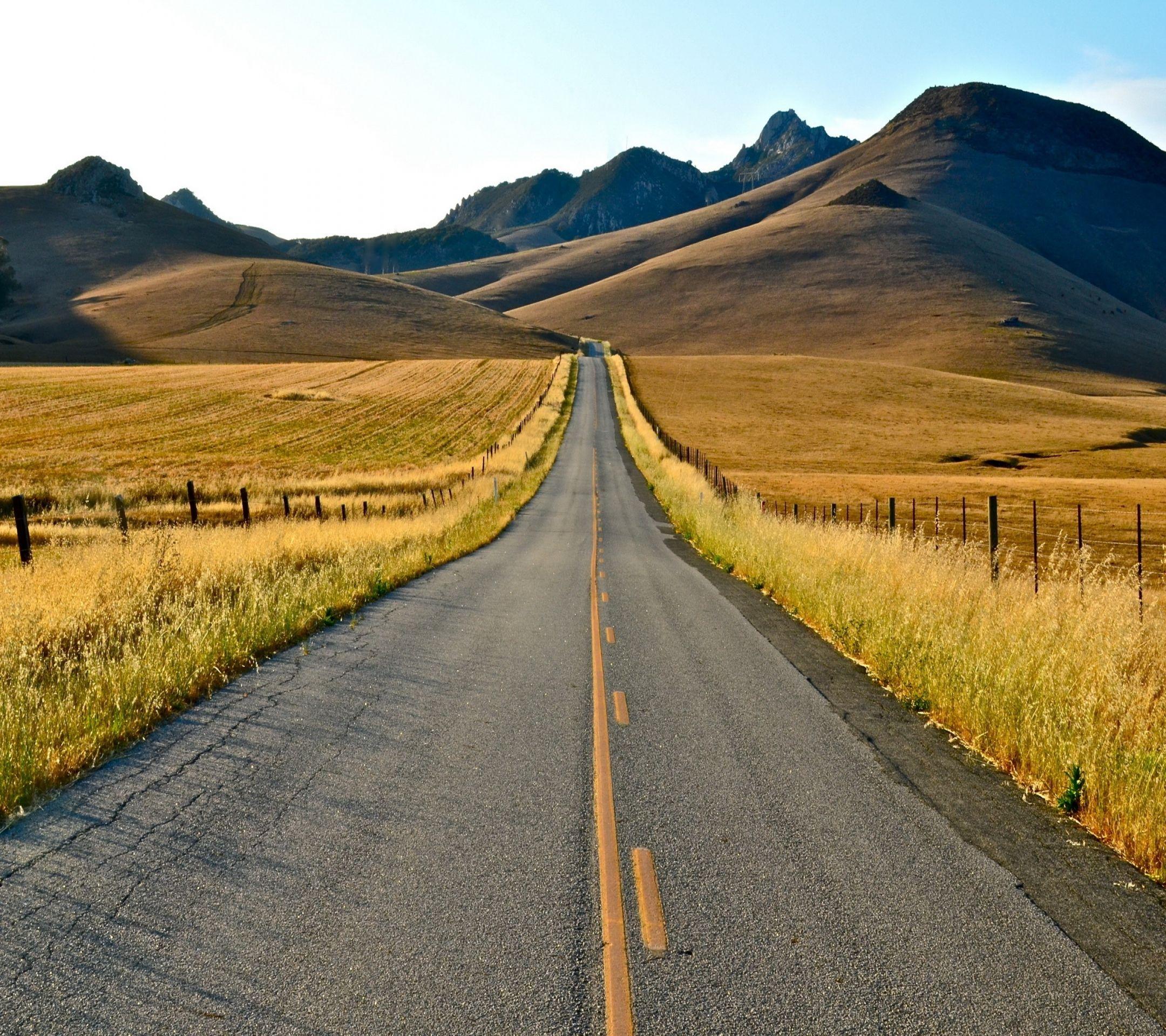 Wallpaper long mile road