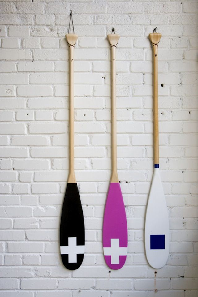 Contact Voyaging: Canoe Paddles as Art : Remodelista