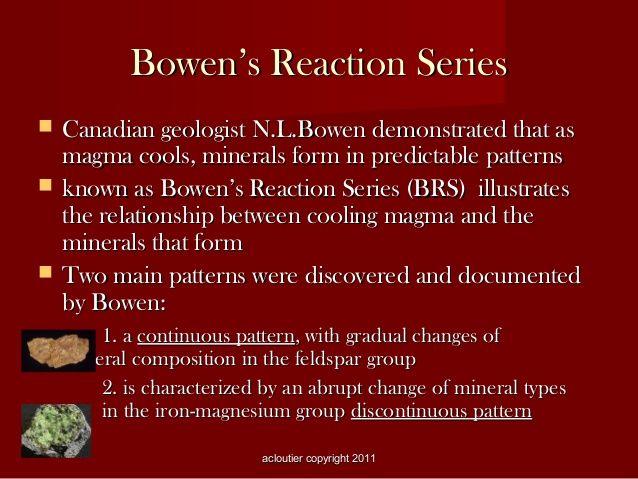 bowen's reaction series