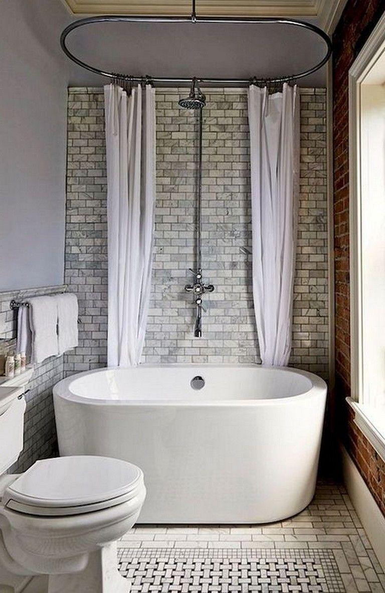 22 Awesome Modern Freestanding White Bathtub Design Ideas Bathroomideas Bathroomrem Bathroom Tub Shower Combo Bathroom Tub Shower Small Bathroom With Shower