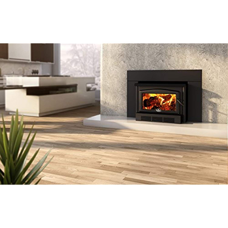 Osburn 2400 Wood Insert with Black Cast Iron Door Overlay