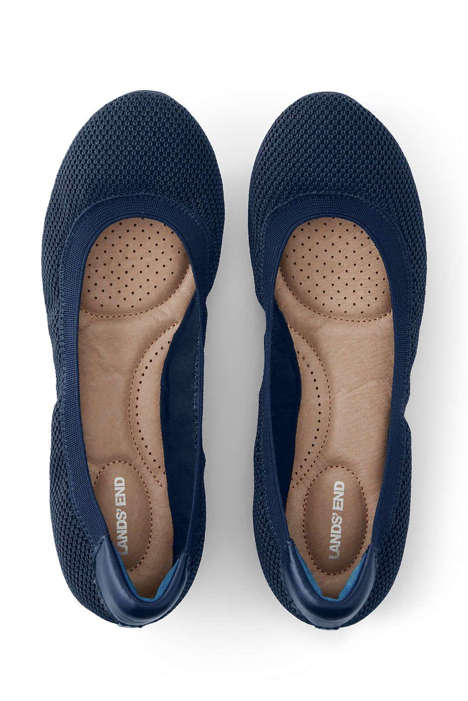 26a4a3b1133a Women's Wide Comfort Elastic Mesh Ballet Flats   ! Wardrobe ...