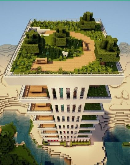 Modern Apartment Minecraft Building Ideas Skyscraper Tower Live - Minecraft haus ideen bauplan