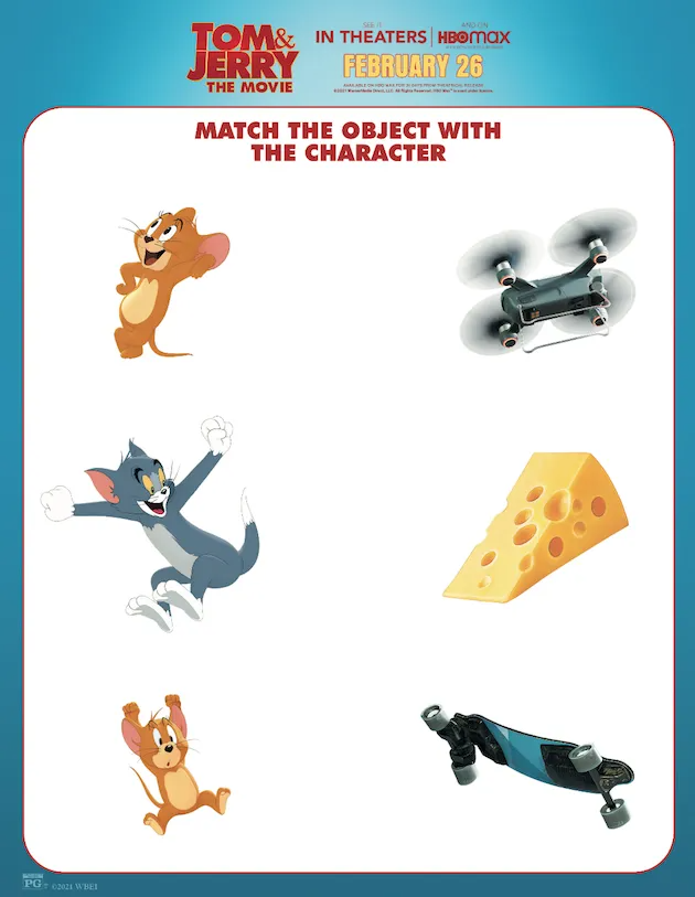 Tom Jerry Printables And Activity Sheets In 2021 Tom And Jerry Activity Sheets Animation Film