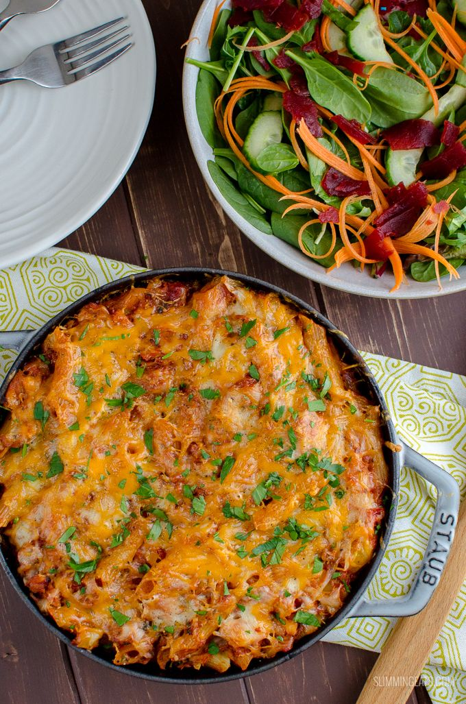 Delicious Syn Free Tuna Pasta Bake a perfect meal any
