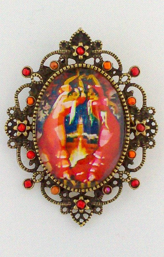 SEVILLA ORANGE BROOCH by TNMatelier on Etsy, €16.00 https://www.etsy.com/shop/TNMatelier?ref=search_shop_redirect
