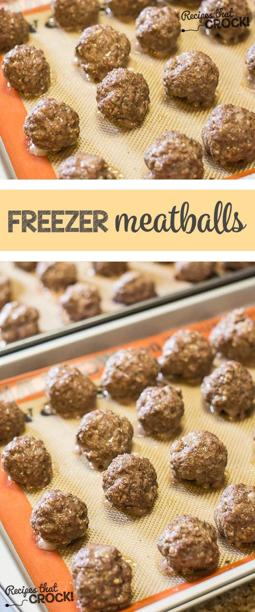 Homemade Frozen Meatballs - Perfect to add to your ...