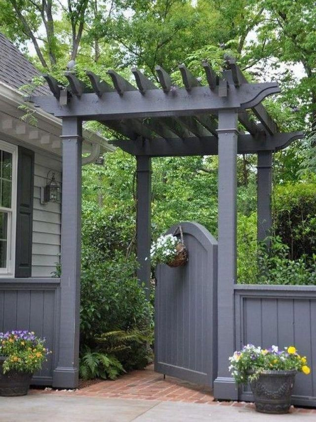 55+ Awesome Fence Ideas for Back Yard and Front Yard