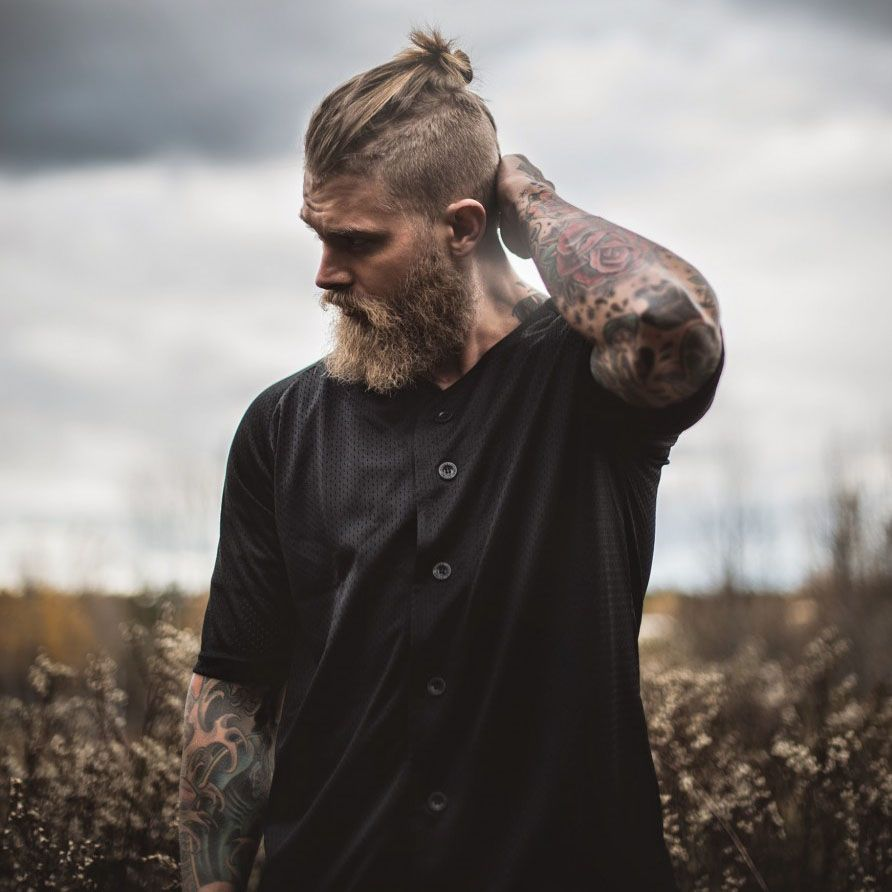 Mens long haircut delicious men with long hair and a beard  handsome  pinterest