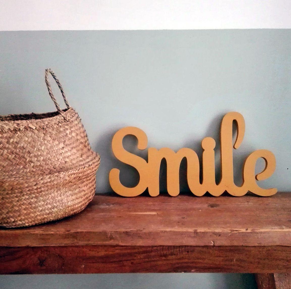 Scritta da parete smile maison du monde habenwill for Maison smile