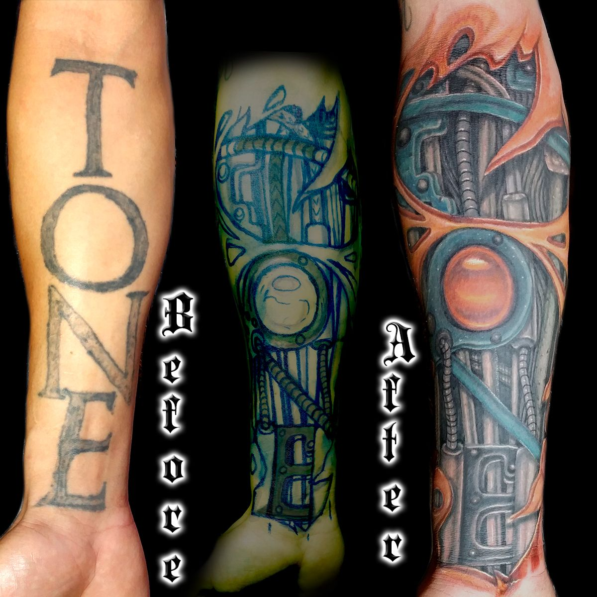 Biomechanical Cover Up Tattoo Done By Brian Martinez Best Cover Up Tattoo Artist In San Francisco Best Cover Up Tattoos Tattoo Artists Up Tattoos