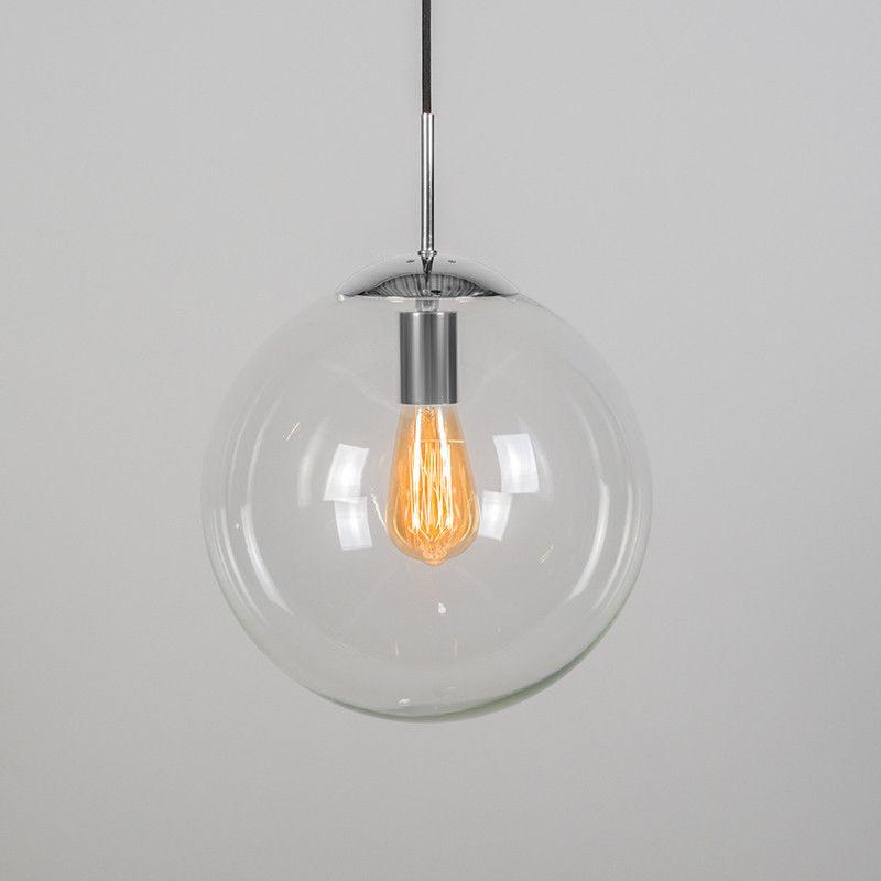Pendelleuchte Ball 30 klar Chrom: #glaslampe #glasleuchte ...