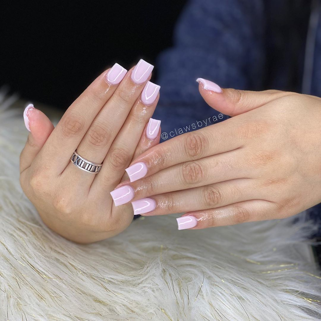 C L A W S B Y R A E On Instagram Short Natural Cute Want This Exact Look In 2020 Short Square Acrylic Nails Short Acrylic Nails Square Acrylic Nails