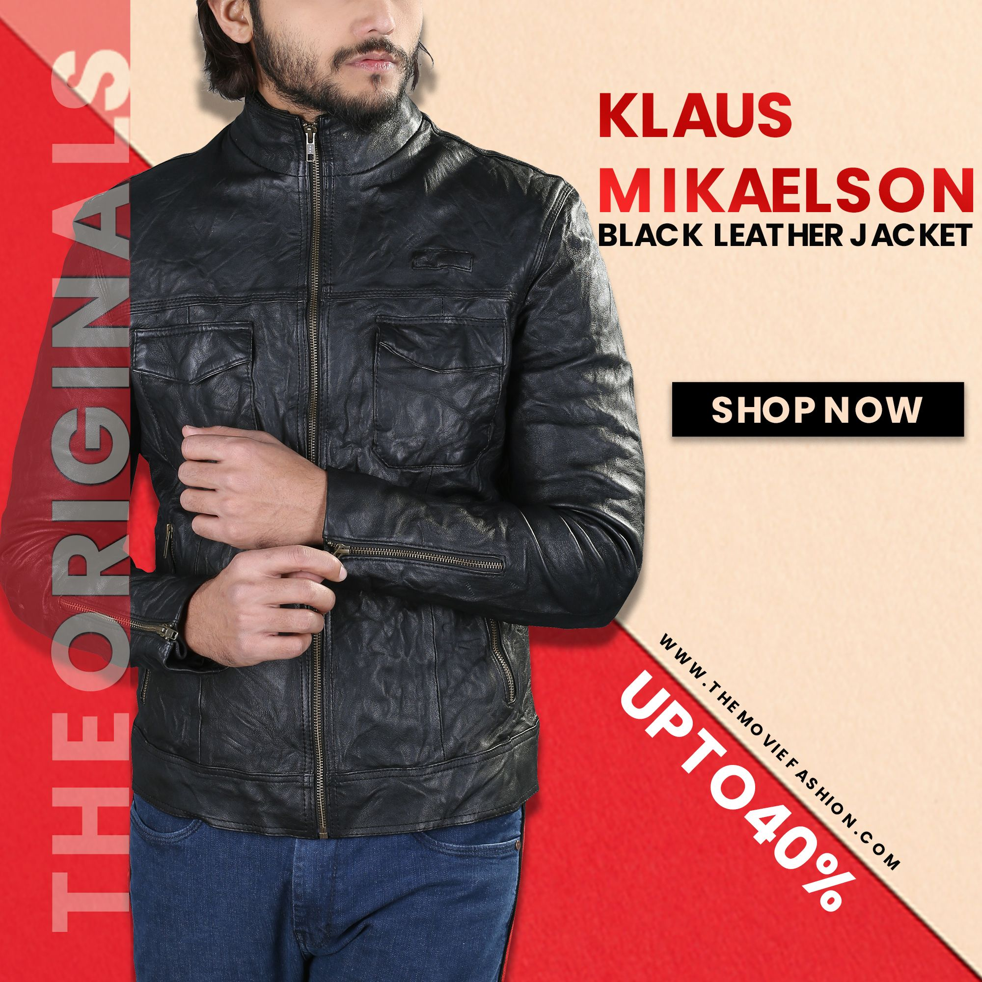The Originals Klaus Mikaelson Tv Series Black Leather Jacket The Movie Fashion Black Leather Jacket Leather Jacket Jackets [ 2000 x 2000 Pixel ]