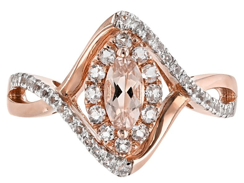 Pink Morganite 10k Rose Gold Ring 1 27ctw Docw528 Pink Morganite Gold Rings Rose Gold