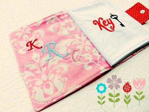 Childrens Fabric Book Personalized Soft Fabric by jaxtonandjill