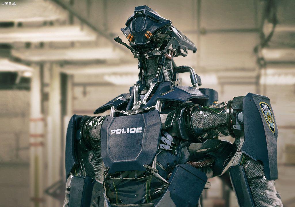 Police Bot, Vitaly Lesnykh on ArtStation at https://www.artstation.com/artwork/police-bot-77c1c646-f34d-40db-8bc0-8a78253e2a85