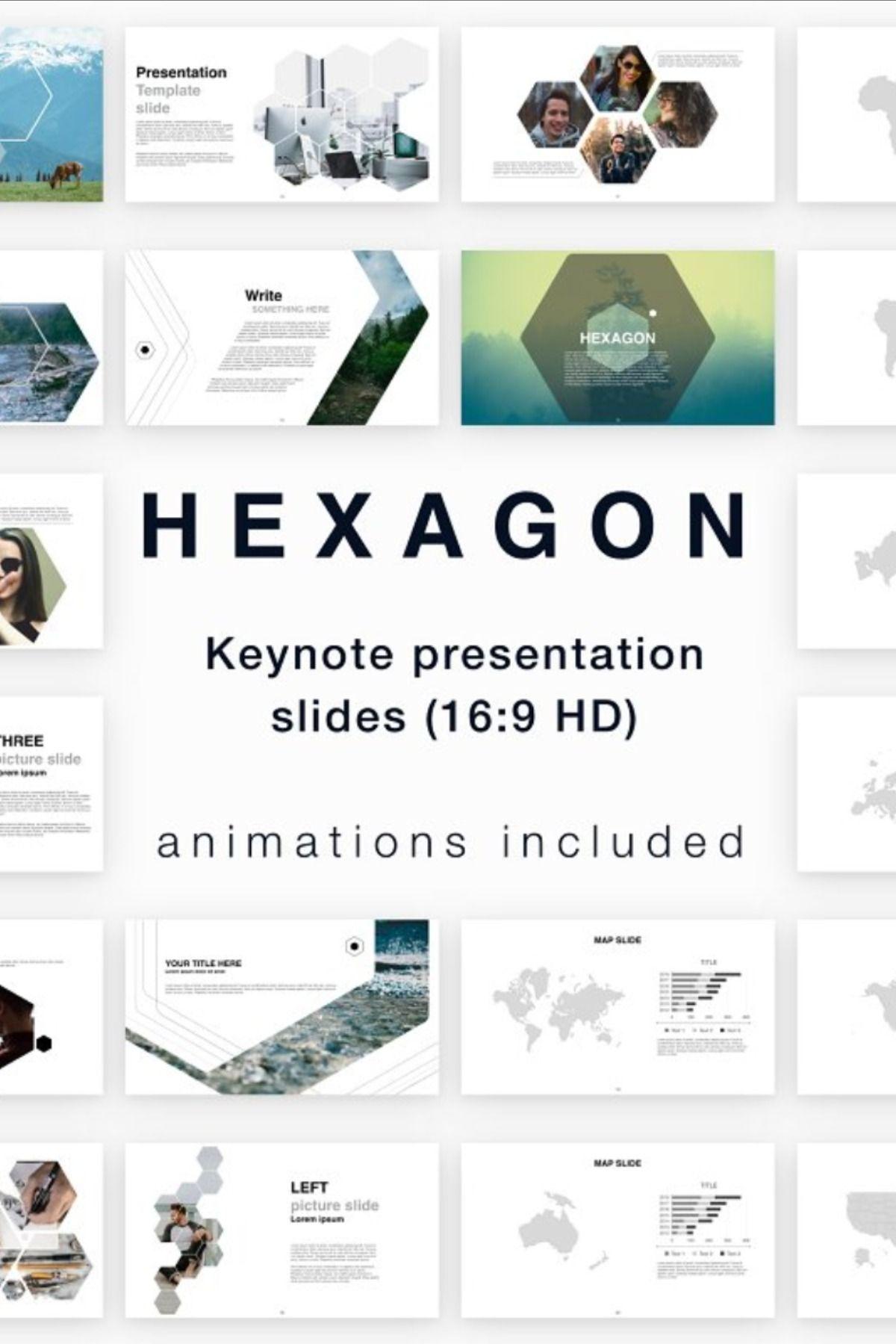 Hexagon in 2020 Presentation slides design, Hexagon