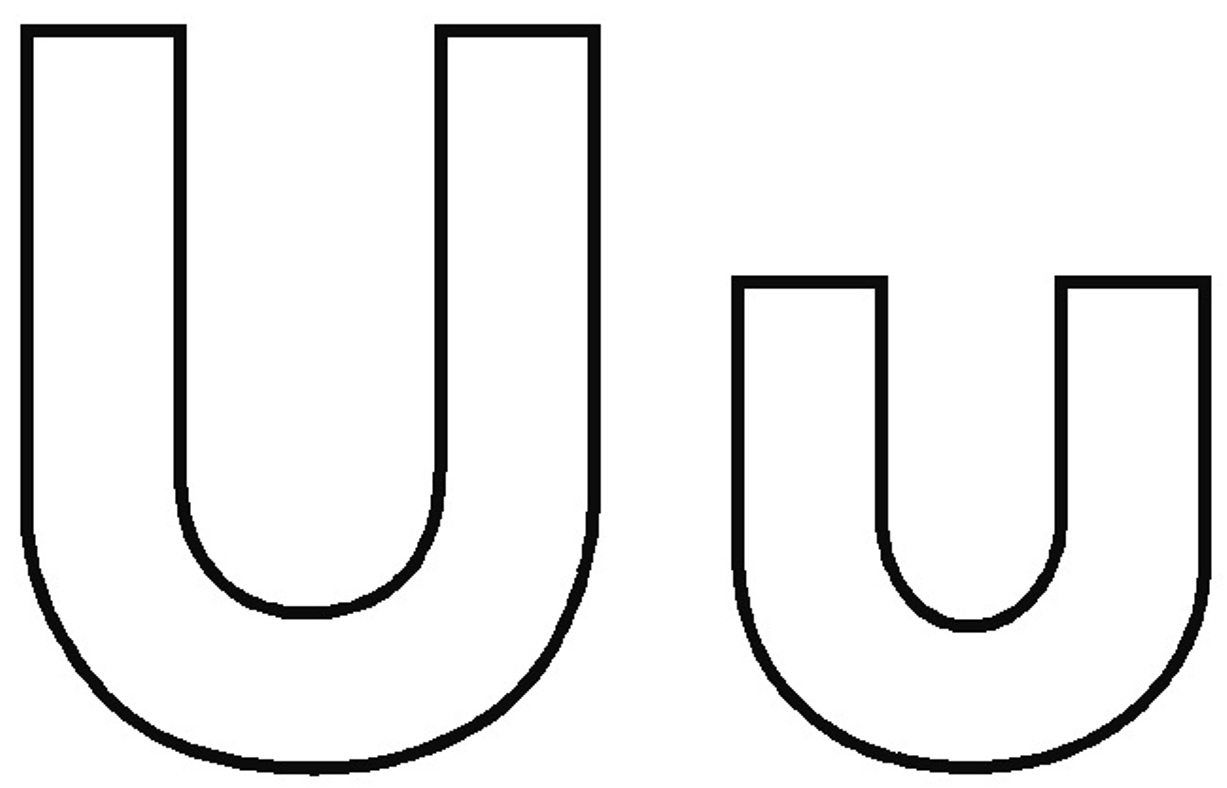 Alphabet Coloring Uppercase And Lowercase U Alphabet