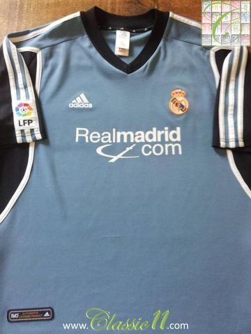 440dae3f874 Relive Real Madrid s 2001 2002 La Liga season with this original Adidas 3rd  kit football shirt.