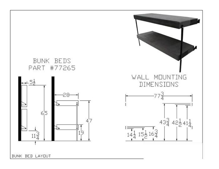 Folding Bunk Bed 77265 Mod 350 Lbs Weight Capacity Per Sleep