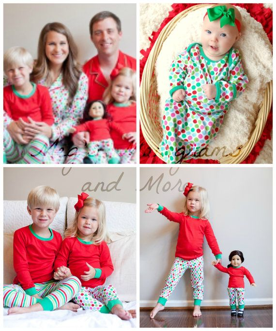 9c29f4a81a Christmas PJ s by MegsMonogramsandMore on Etsy