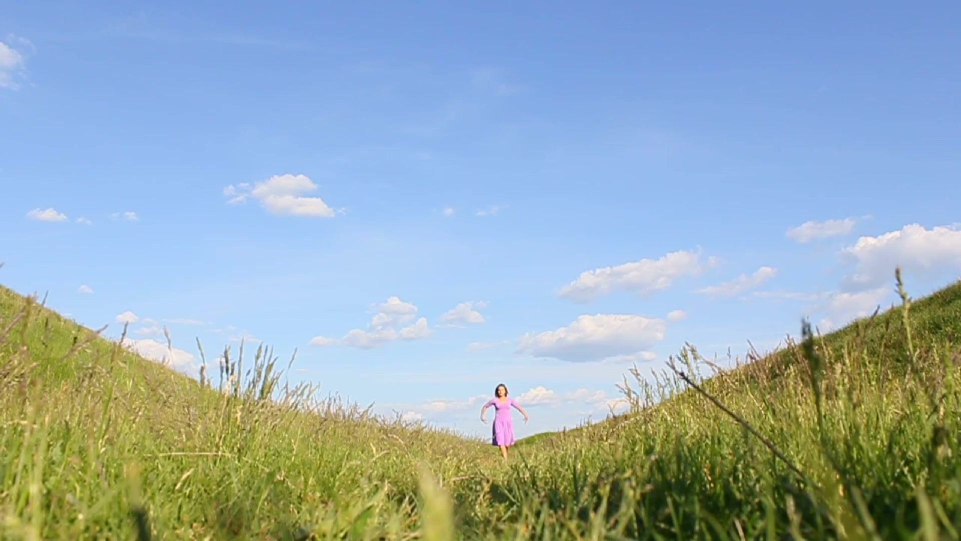 Girl dancing nature beauty of movement stock footage