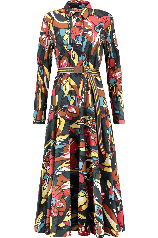 Poplin Dress 70 Shirt Cotton Printed The Up Marni Off Sale To pwU1x5