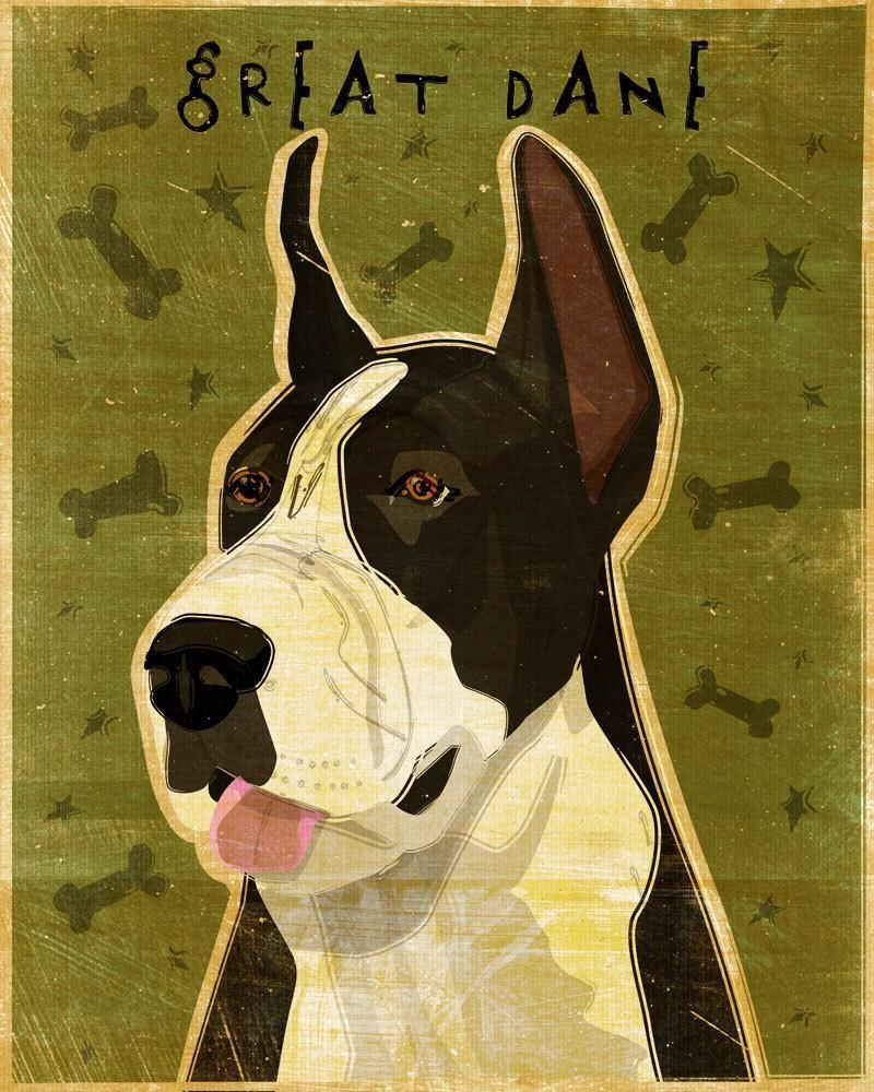 Great Dane Art Block Great Dane Dogs Great Dane Puppy Dane Dog