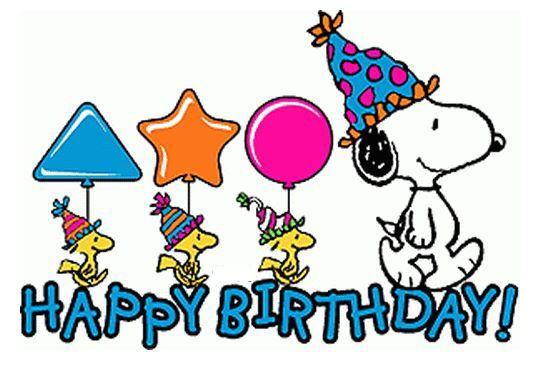 Pin Von Marion Auf Happy Birthday Snoopy Geburtstag