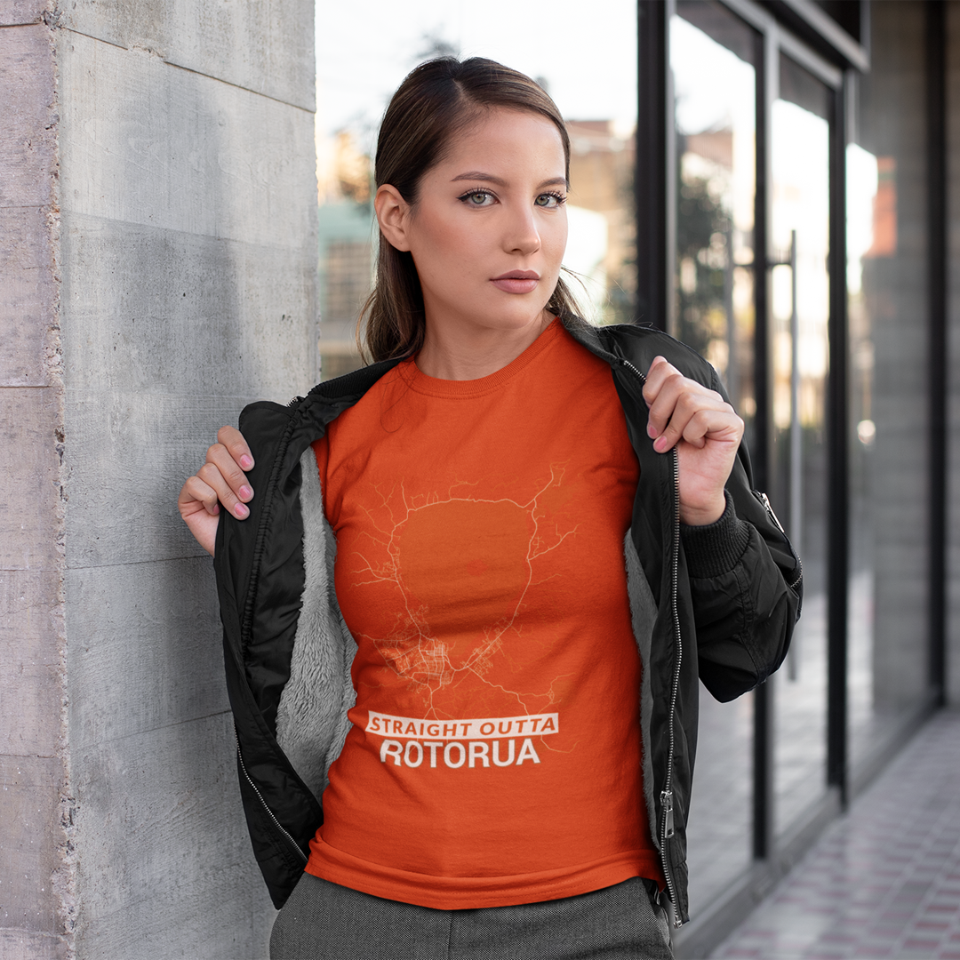 Let's show some love for Rotorua with this t-shirt for men and women. Straightforward streetwear for those that live in or come from Rotorua. High quality tshirt with the street map of Rotorua in 17+ colors. (c) Toposhirts (c) OpenStreetMap Contributors. #Rotorua #NewZealand #NZ #BayofPlenty #streetwear #tshirts #toposhirts #landscape #travel #city #fashion