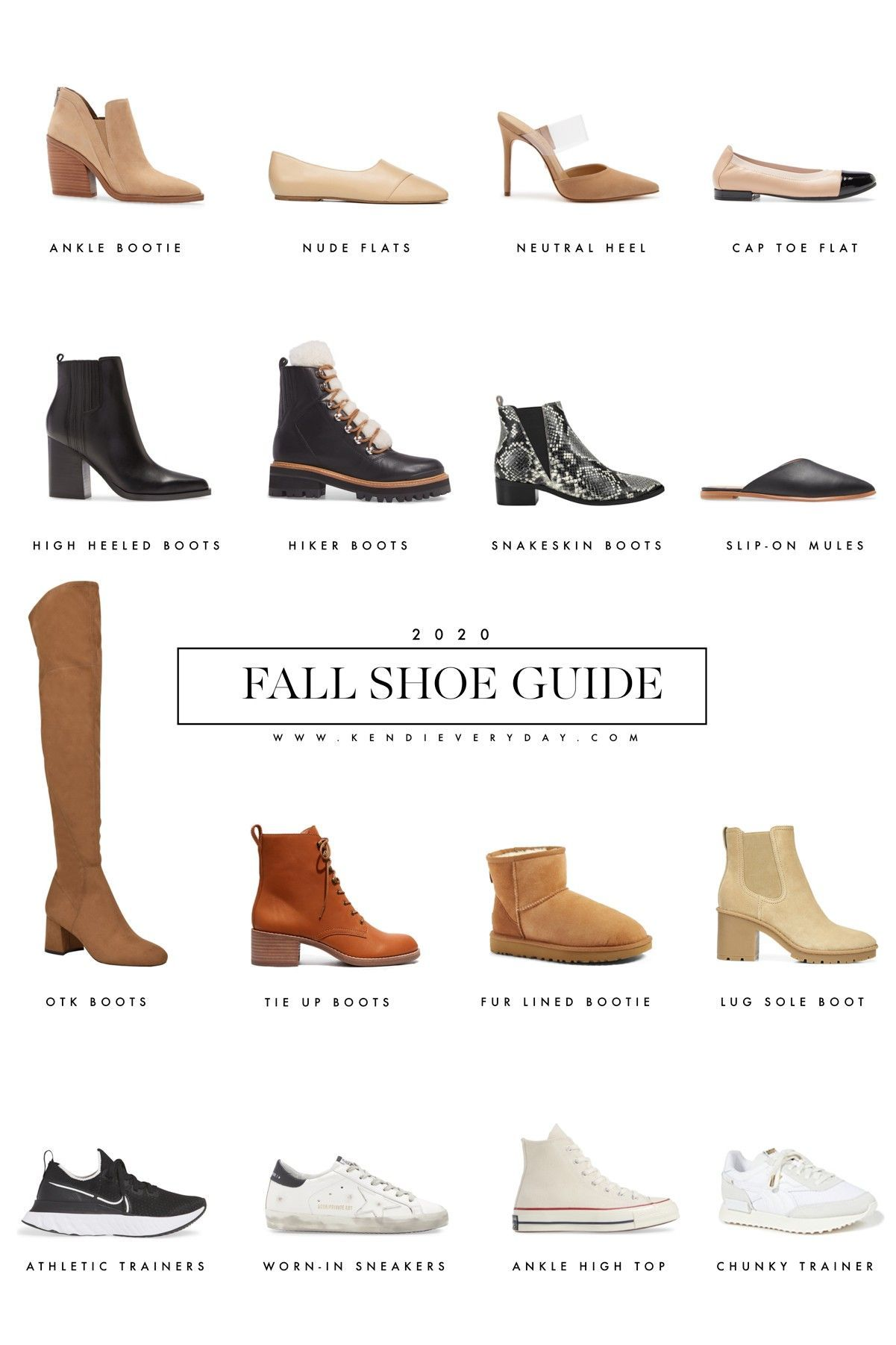 Fall Shoe Guide 2020 Kendi Everyday in 2020 Fall shoes
