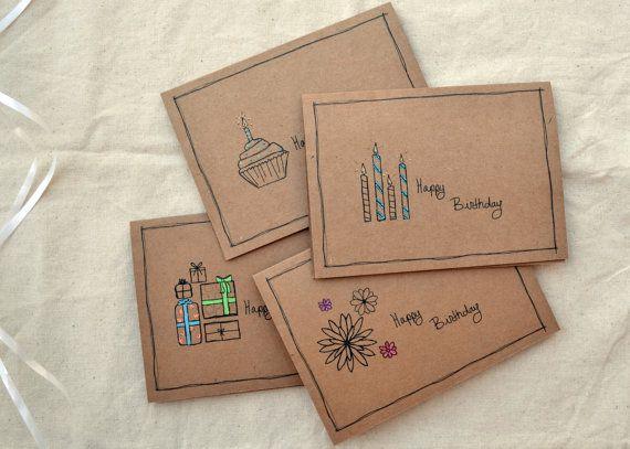 Birthday Card Set Assorted Birthday Cards Handmade Birthday Card