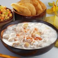 Dahi ki Pakori: A super easy two part recipe - fry pakories first and dip them in spiced #yogurt.
